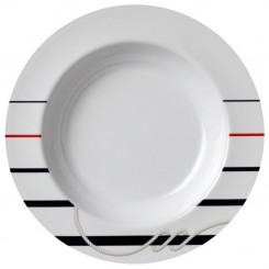CANNES non-slip deep plate Ø22,5cm (6 pcs)