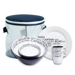 SEA dinnerware set for 4 (16 pcs)